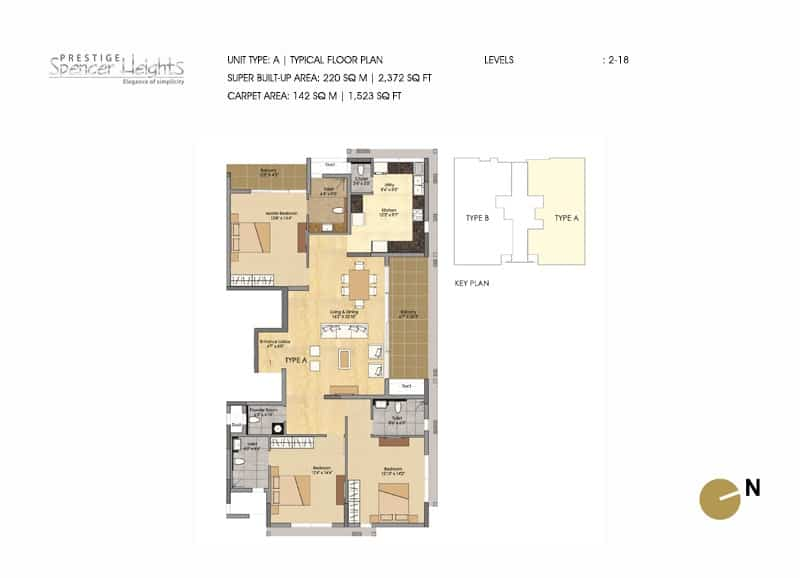 Prestige Spencer Heights type a 3 bed 10