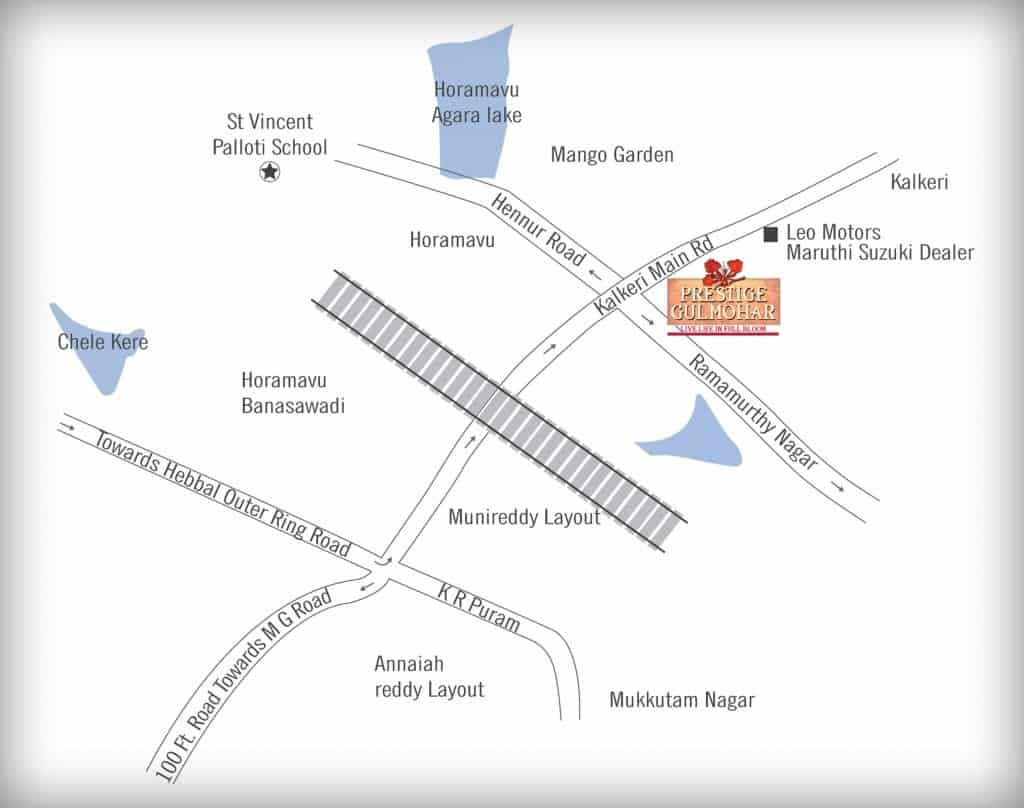 Prestige-Gulmohar-Location-Map