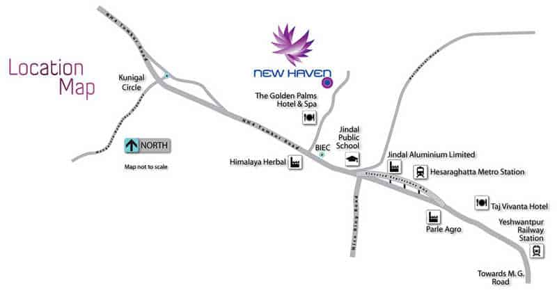 Tata New Haven Location Map