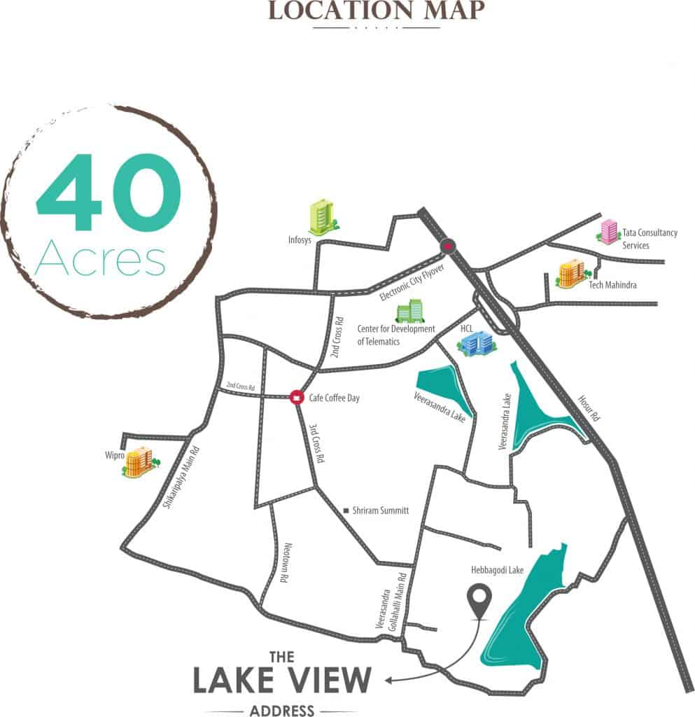 The Lake View Address Location Map